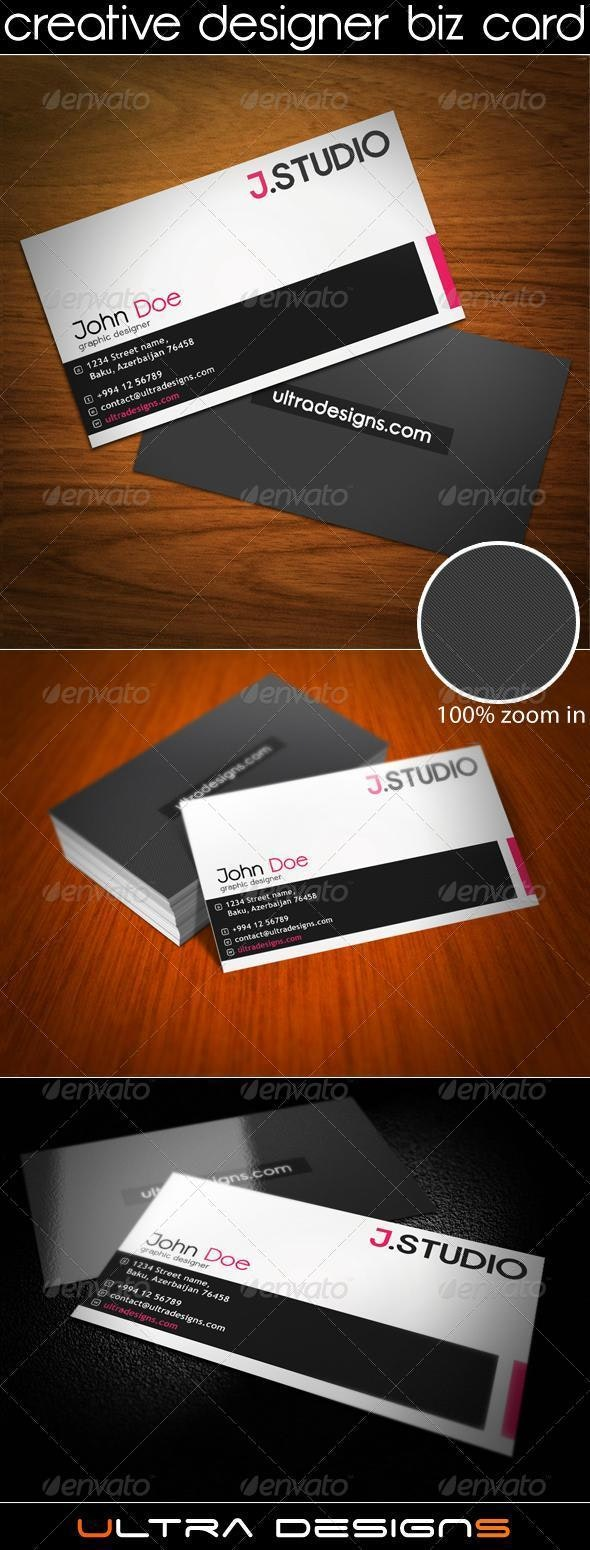Creative Designer Business Card - Corporate Business Cards
