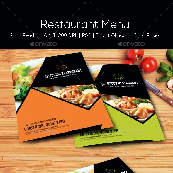 Restaurant Menu Template - Vol4