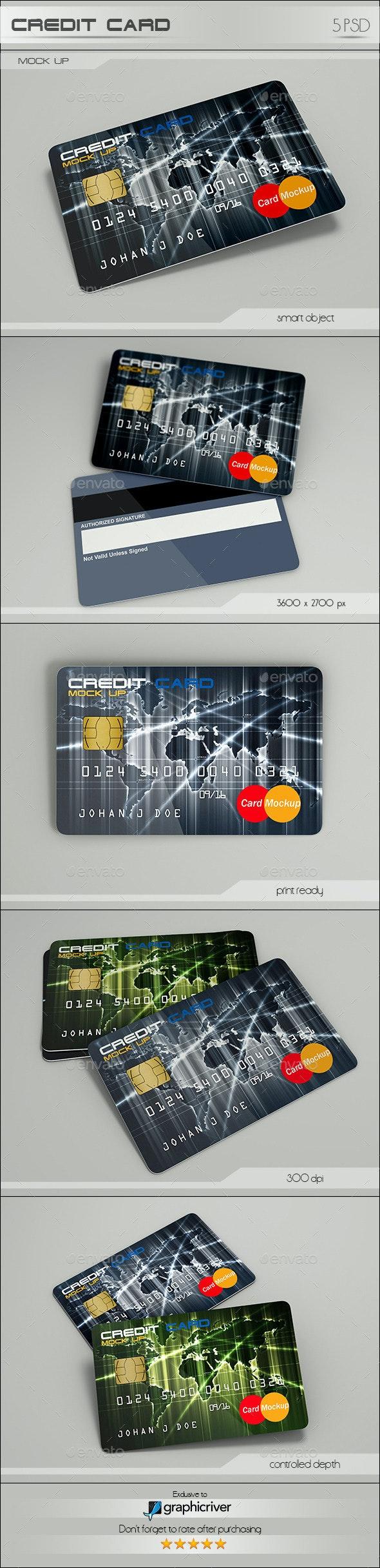 Credit Card - Product Mock-Ups Graphics