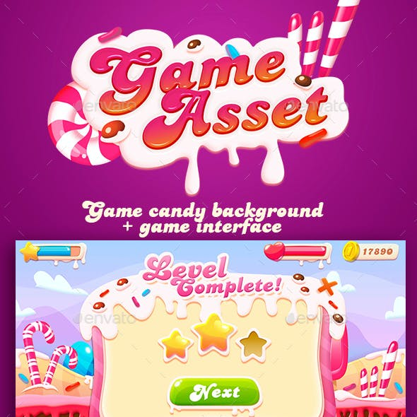 Sweet Game Asset with GUI