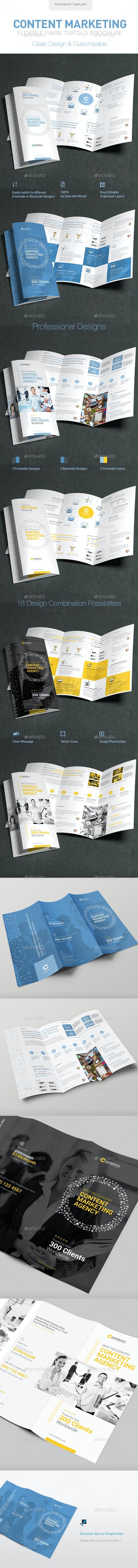 Content Marketing Trifold Brochure - Brochures Print Templates