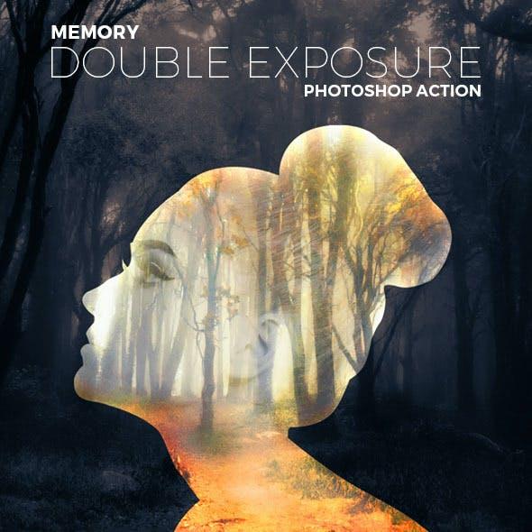 Memory Double Exposure Photoshop Action