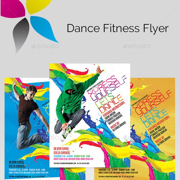 Dance Fitness Flyer