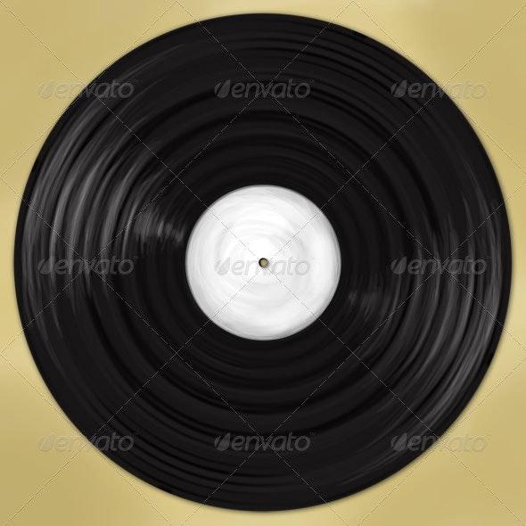 Vinyl record - Objects Illustrations