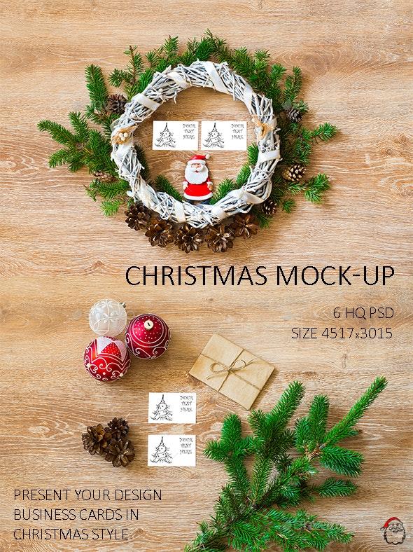 Christmas Mock-Ups - Product Mock-Ups Graphics