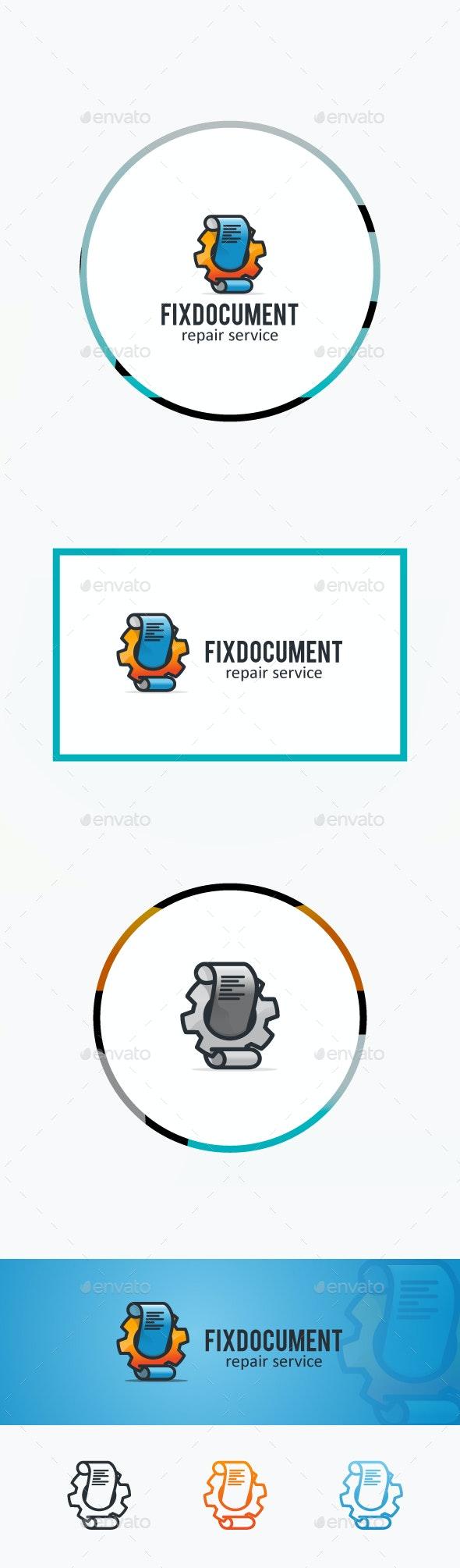 Fix Documents - Symbols Logo Templates