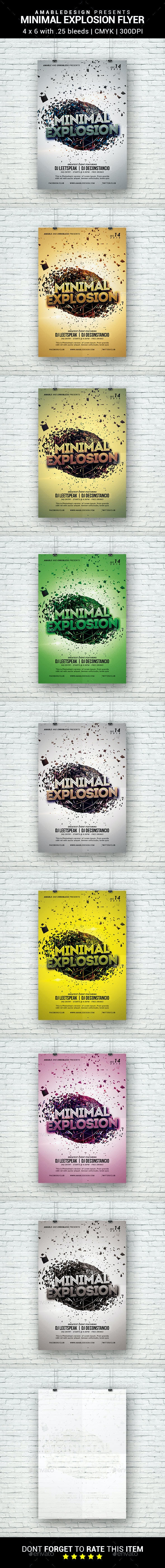 Minimal Explosion Flyer - Clubs & Parties Events