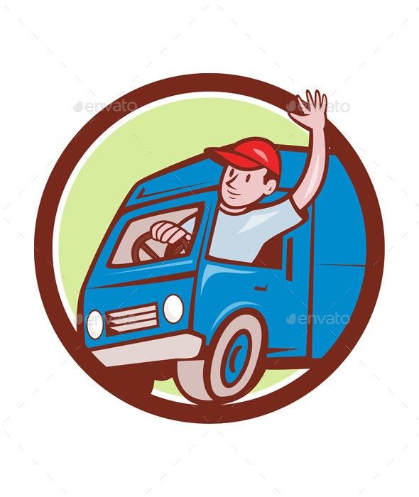 Delivery Van Cartoon