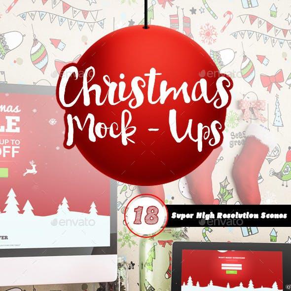 18 Christmas Mockups