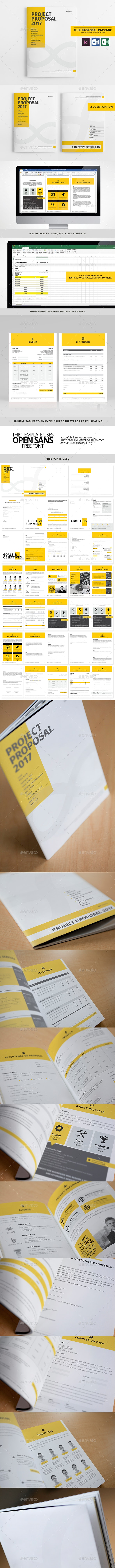 36 Page Full Proposal Package A4 / US Letter - Proposals & Invoices Stationery