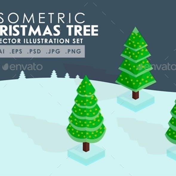 Isometric Christmas Tree Vector