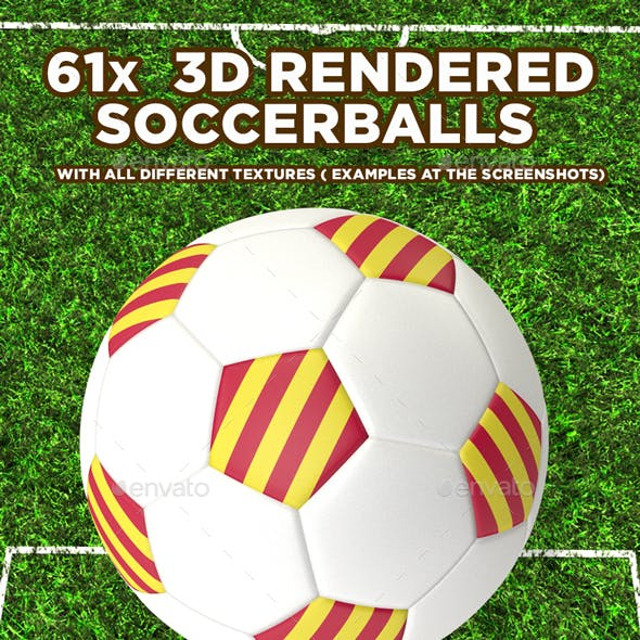 61x  3D Soccerballs With Different Textures