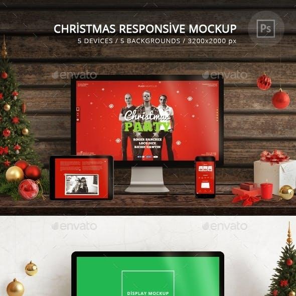 Christmas Responsive Mockup