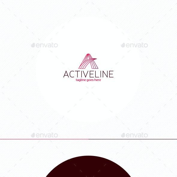 Active Line Logo • Letter A