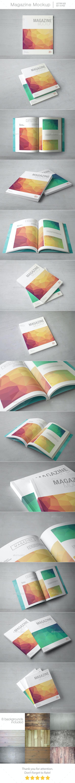 Magazine Mockup / Letter Size  - Magazines Print