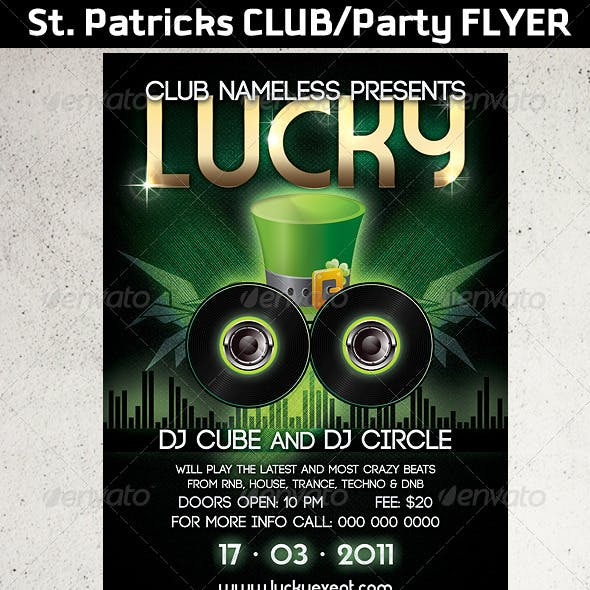 St. Patricks Club/Party flyer template