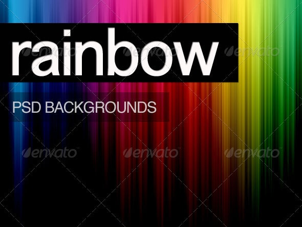 Rainbow PSD Backgrounds - Backgrounds Graphics