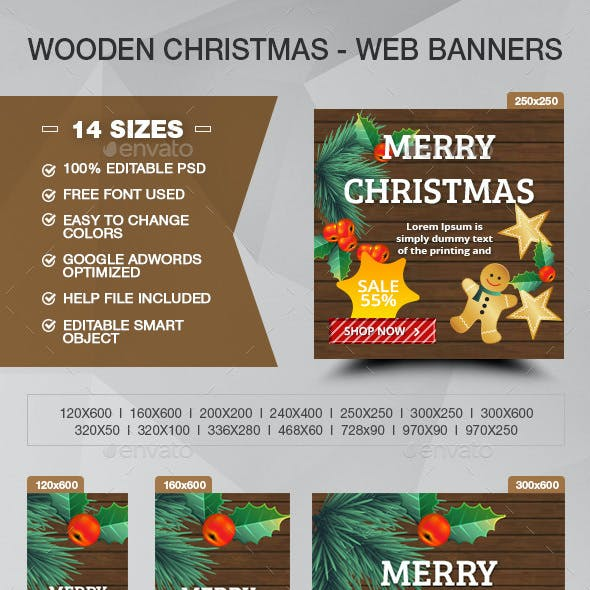 Wood Christmas Sale - ADS Banners