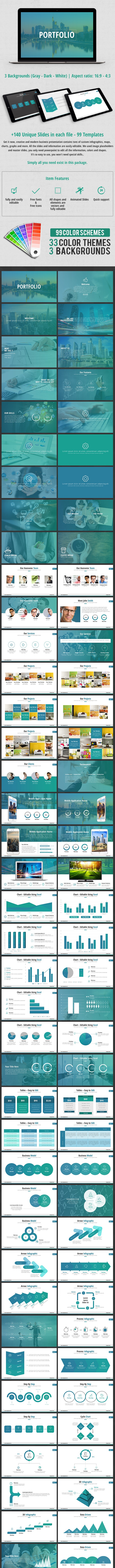 Business Portfolio PowerPoint Presentation - Business PowerPoint Templates