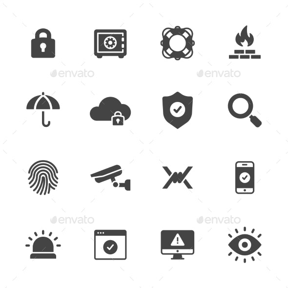 Protection And Security Icons - Technology Icons
