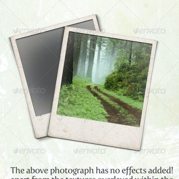 Gritty and Modern Polaroid Photo Frames