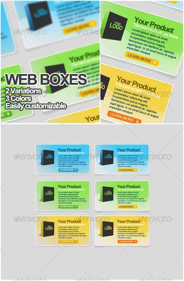 Web boxes elements - Web Elements