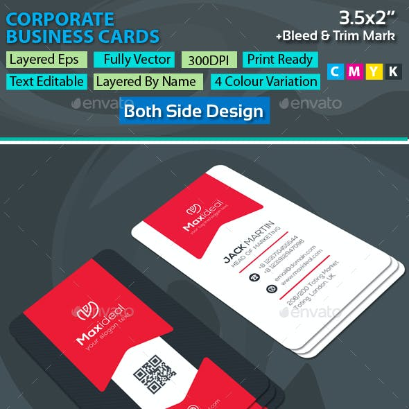 Maxideal next Corporate Business Cards