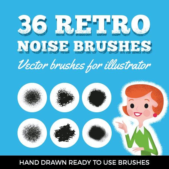 36 Retro Noise Brushes