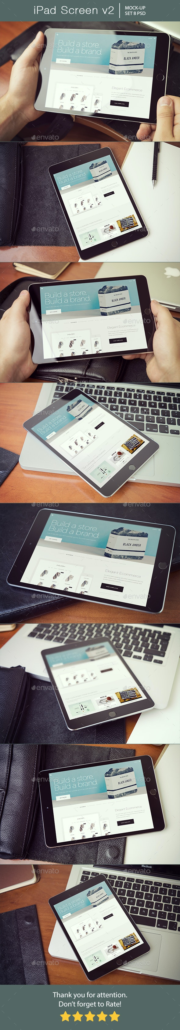 iPad Screen Mockup v2 - Mobile Displays