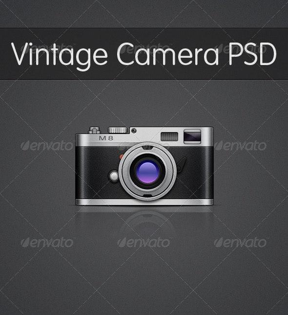 Vintage Camera PSD - Objects Illustrations