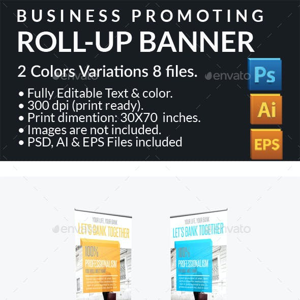Business Promotion Roll-up Banner