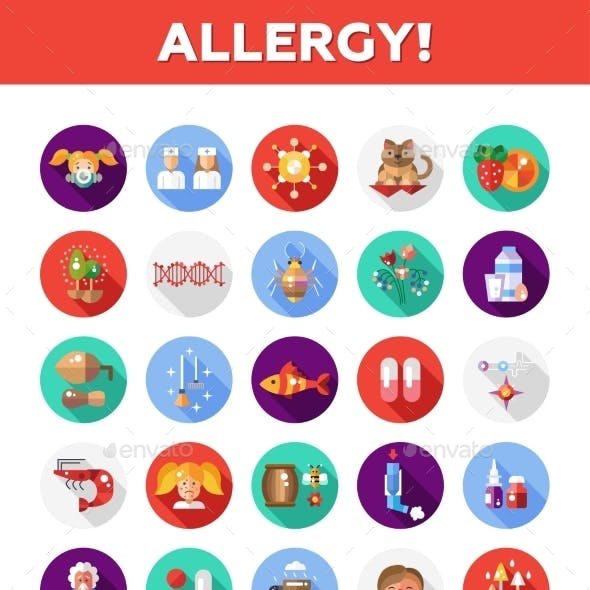 Allergy and Allergen Icons