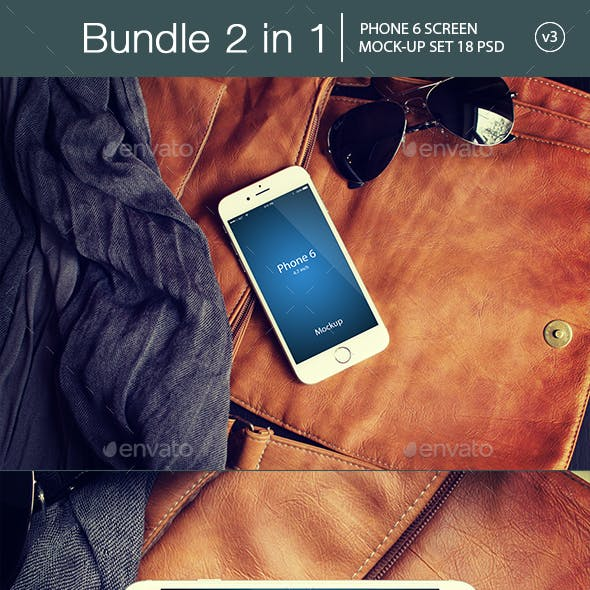 iPhone 6 Mockup Bundle 2 in 1 v3