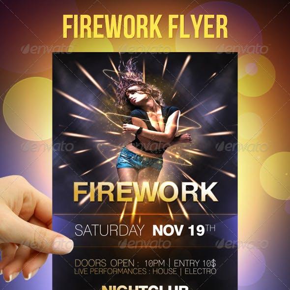 Firework Party Flyer
