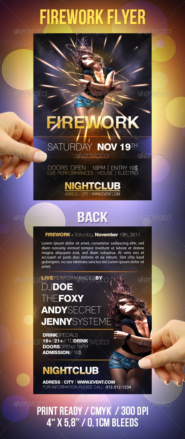 Firework Party Flyer - Clubs & Parties Events