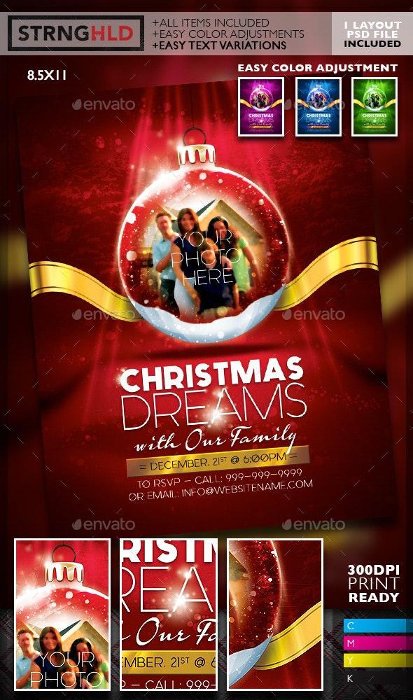 Christmas Snow Globe Flyer Template - Holidays Events