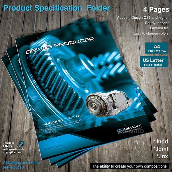 Product Specification Folder Vol.3