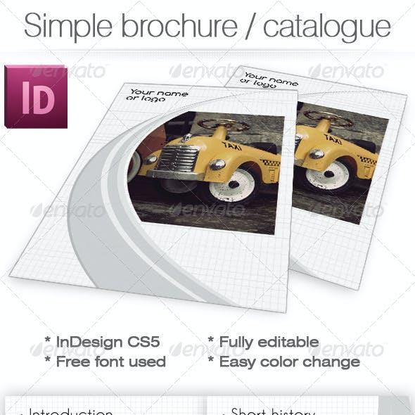 Simple Clean Brochure / Catalogue