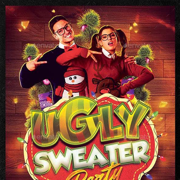 Ugly Sweater Party Flyer Template