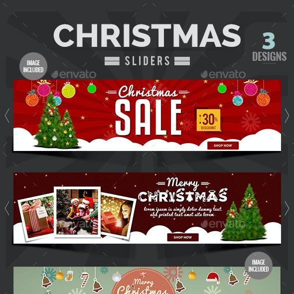 Christmas Sliders - 3 Designs