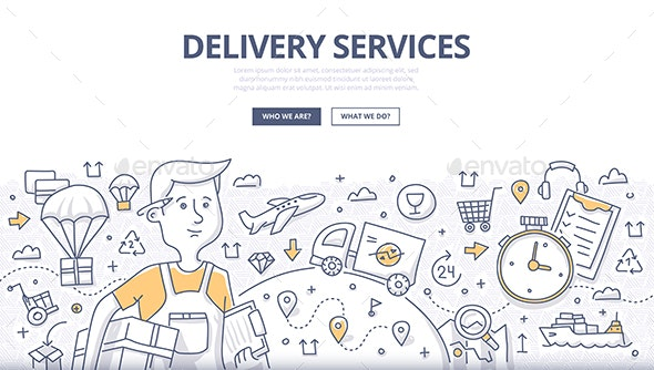 Delivery Doodle Concept - Industries Business