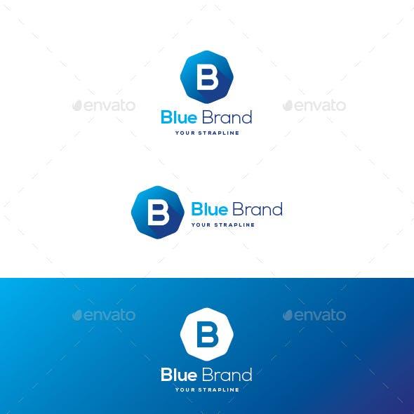 Blue Brand Letter B Logo