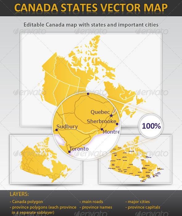Canada layered vector map - Miscellaneous Vectors