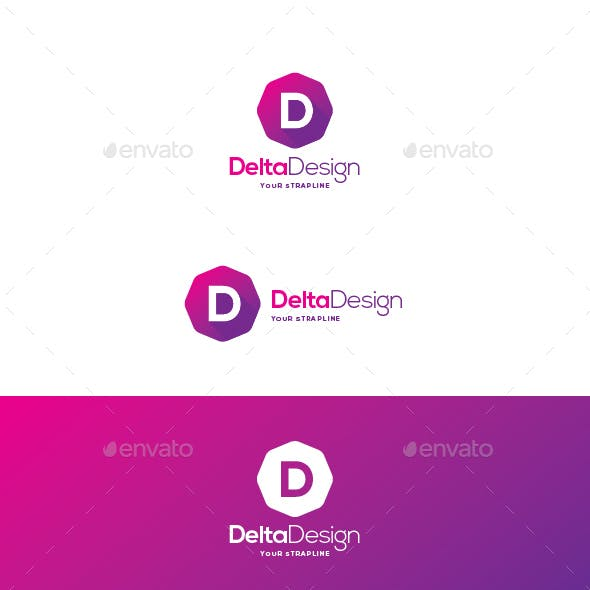 Delta Design Letter D Logo