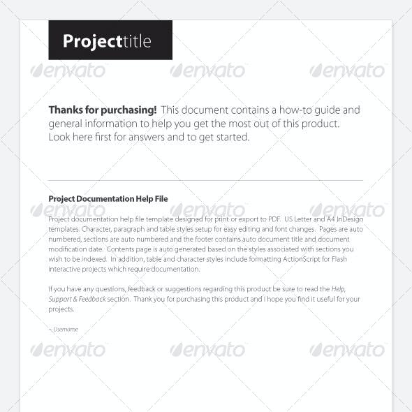 Project Documentation Help File