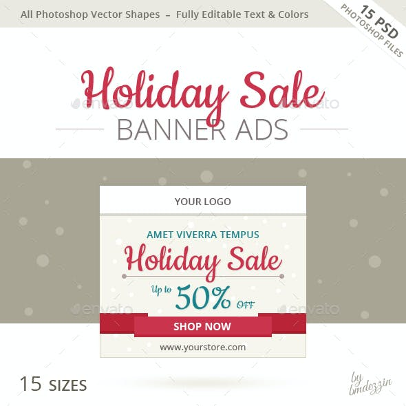 Holiday Sale Banner Ads