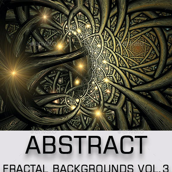 Abstract Fractal Backgrounds Vol.3