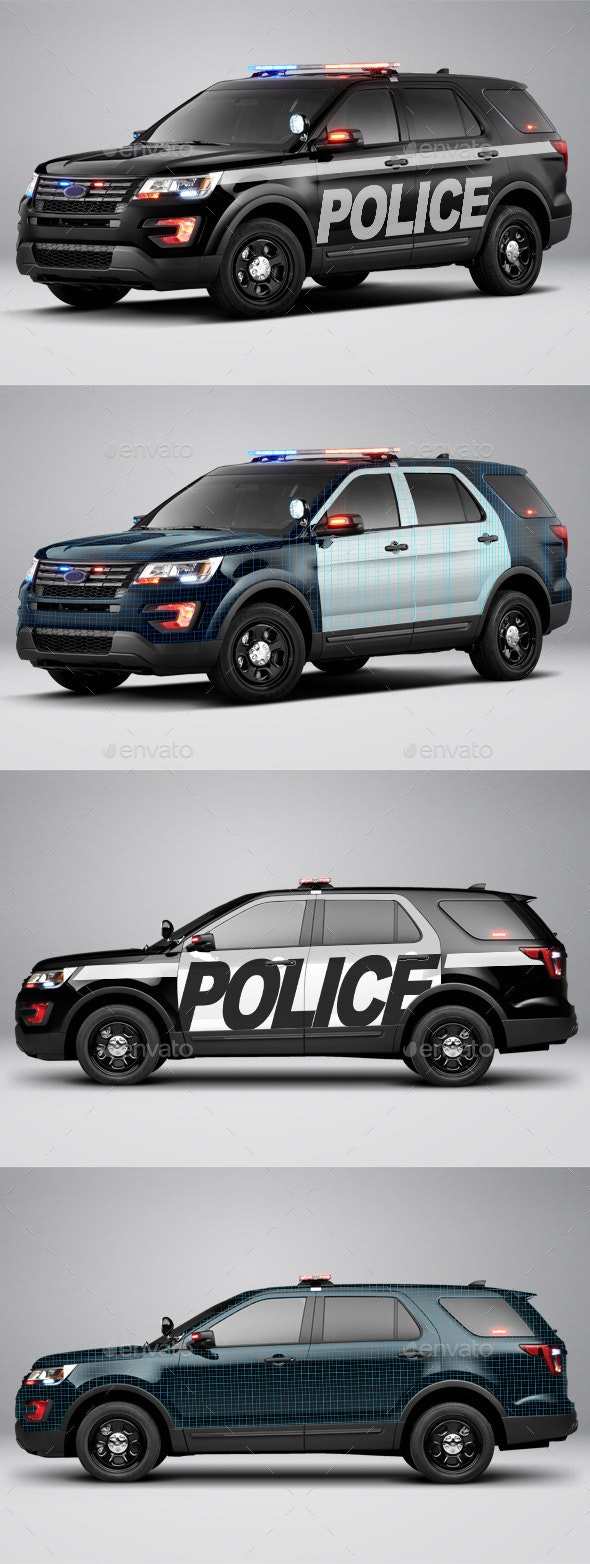 2016 Police Interceptor Utility - Product Mock-Ups Graphics