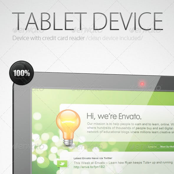 Tablet Device / with Credit Card Reader/