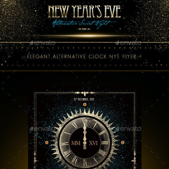 NYE - New Year's Eve Alternative Clock Flyer